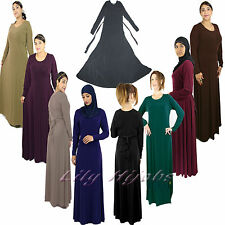 Ladies Umbrella Cut /Flare/A-Line Abaya With Tie-Back
