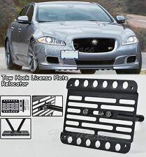 For 14-UP Jaguar XJR Front Bumper Tow Hook License Plate Mount Bracket Relocator
