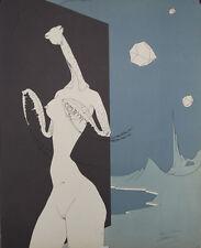 L'amante religieuse : Lithographie signée Félix LABISSE
