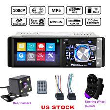 "1DIN 4.1"" Bluetooth In-Dash Stereo Radio HD Car MP5 MP3 USB AUX Player FM Camera"