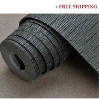 Textured Wallpaper Grasscloth Effect Simple Plain Luxury Modern Wall Covering Ro