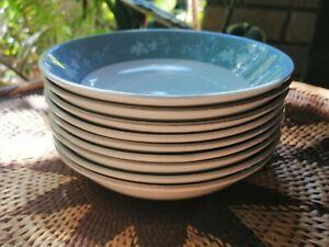 "9 x Royal Doulton ""Reflections""(TC1008) Cereal/Desert Bowls Bone China, England."