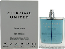 Chrome United By Azzaro For Men EDT Cologne Spray 3.4oz Tester New