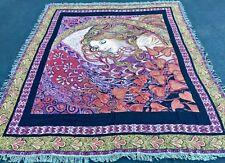 "Aphrodite Greek Goddess of Love & Beauty Twin Woven Tapestry Bedspread 66""x90"""