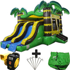 NEW 20ft Tropical Commercial Inflatable Bounce House Slide Combo