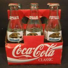 Coca-Cola Classic Pack 6 Jacksonville Jaguars 30th NFL Team W/Carrier Empty 8oz