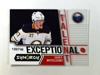 2018-19 18-19 UD Upper Deck Synergy Exceptional Talent 40 Casey Mittelstadt /749