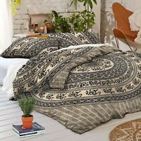 Bohemian Indian Mandala Duvet Doona Cover Throw Boho Quilt Cover Queen Bedding