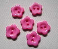 6 BOUTONS  Fleur Rose NEUF * 12 mm pied * 1,2 cm button yellow sewing couture