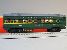 LIONEL NO 2401 POSTWAR GREEN OBSERVATION HILLSIDE O GAUGE train 6-82726-H NEW