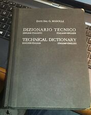 Dizionario tecnico inglese-italiano-marolli-le monnier 1949