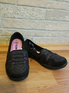 Athletic Works Womens Low Bungee Shoes Black Comfort Fit Memory Foam Size 6.5