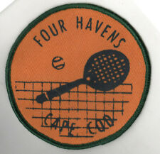 1960s CAPE COD MASSACHUSETTS Brewster TENNIS PATCH Four Havens MASS MA Sports