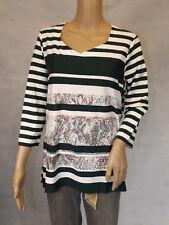 GINA LAURA ~ 40/42 ~ M ~ Tolles Shirt Longsleeve ~ 3/4-arm ~ mit Print
