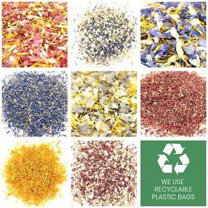 Delphinium & Wildflower Dried Petal Wedding Confetti Flower Petals Biodegradable
