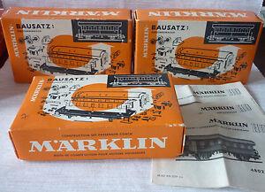 Märklin, 3x 4802, Bausatz Personenwagen original Leerkarton