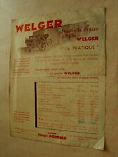Prospectus Tracteur Presse WELGER (2) Tractor Traktor Brochure Prospekt