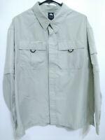 Nike ACG Clima-Fit Mens Medium Tan Beige Long Sleeve Outdoor Hiking Button Shirt