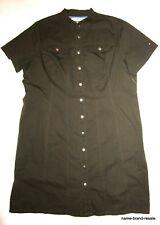 TOMMY HILFIGER NEW Womens PLUS 18 2X Brown SHIRTDRESS Snap Front Shirt Dress