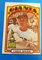 1972 Topps Set Break #165 Chris Speier EX/EX-MT Giants