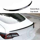 Painted Gloss Black Rear Trunk Lip Spoiler Wing Fit For Tesla Model 3 2017-2022