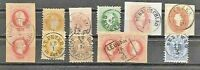 AUSTRIA LOT for specialists INTERESTING POSTMARKS   FVF