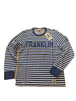 Franklin & Marshall Men's T Shirt Blue Logo Long Sleeve