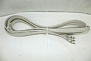 20 FT 3 RCA GOLD PLATED COMPOSITE EXTENSION CABLE A/V AUDIO VIDEO great conditio