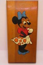 Minnie Mouse Hand Painted Wood Plaque Vintage Disney
