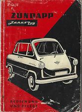 ZÜNDAPP JANUS Betriebsanleitung 1958 Bedienungsanleitung Handbuch Bordbuch BA
