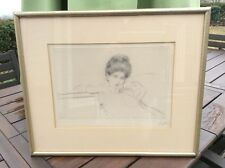 Paul-Cesaer Helleu (1859-1927) Drypoint Etching signed