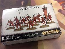 40K Warhammer Daemons of Khorne Bloodletters NIB Sealed