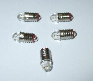 LED Ersatzlampen (Märklin 600100 / 600200) E5.5 16-24V  -  5 Stück   -NEU-