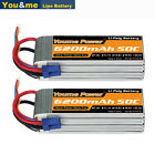 2Pcs Youme 22.2V 6S 6200mAh LiPo Battery EC5 For RC Helicopter Quad Car Truck