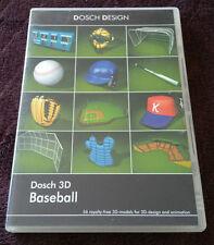 Dosch Design BASEBALL 2xCD 56 3D Models for Maya, LW3D, 3DSMax & MORE! FREE SHIP