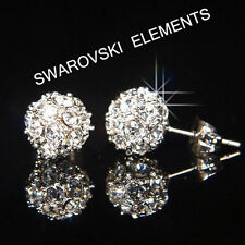 Unbranded Round White Gold Plated Stud Costume Earrings