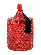 D.L. & Co Candle Rare Botanic RED Great Gift Diamond Embossed Glass 15.5 oz