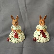 Vintage Lot Easter Rabbits Bunnykins Busy Needles figurines Royal Doulton