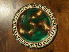 Wedgwood Majolica Plate with Reticulated Rim Greek Key