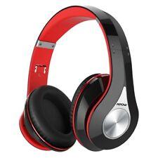 Mpow Bluetooth Headphones Over Ear Hi-Fi Stereo Wireless Headset Foldable Red