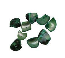 50 g PERLMUTT Muscheln PERLEN Grün 80stk NATUR SHELL Beads Schmuck Kette U140