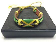 NEW***RASTA JAMAICAN BRACELET YARDIE ONE LOVE  BOB MARLEY JAMAICA FLAG IRIE