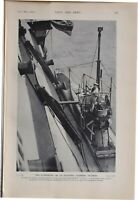 1915 WW1 PRINT SUBMARINE AS ELECTRIC LIGHTING STATION HMS VICTORY