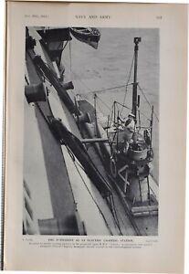 1915 WW1 Aufdruck Submarine Als Elektrisch Beleuchtung Station Hms Victory
