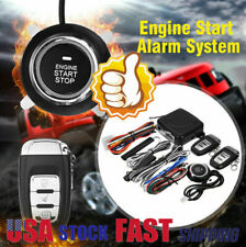 Alarm System Car Security Ignition Engine Start Push. Button Remote Keyless Kit.