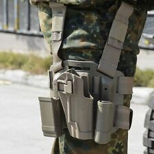 QUICK-RELEASE MILITARY DROP LEG THIGH RIG HOLSTER WITH 2 POUCHES FOR COLT 1911