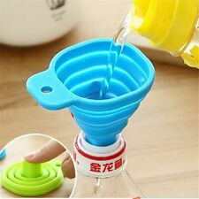 Kitchen Funnel Silicone Foldable Funnel for Water Bottle Liquid Hopper Collapsib