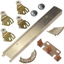 """Johnson Hardware Aluminum 48"""" Bypass Two Door Hardware Set 2200482D"""