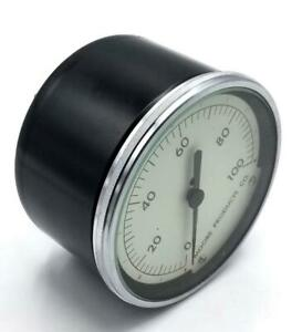 """Moore Products 1-100 PSI Pressure Gauge 3-1/2"""" Face 1/4"""" NPT"""