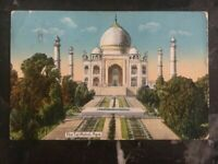 1918 Rangoon Bruma India Picture Postcard Cover To London England The Taj Mahal